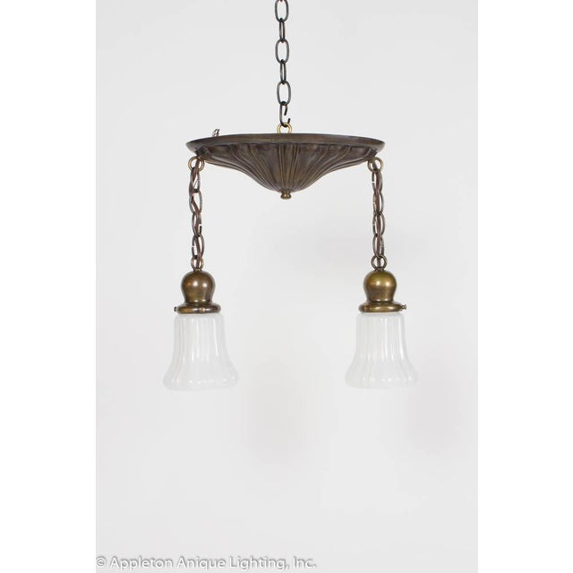 Restored Two Light Sheffield Pendants For Sale In Boston - Image 6 of 6