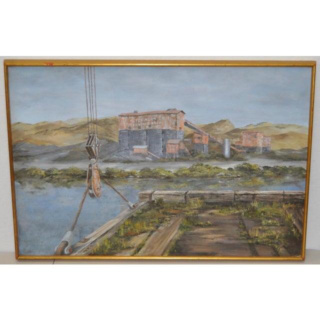 Hutchinson Co. Quarry Original Oil Painting c.1960 - Image 2 of 9