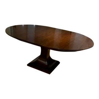 Bernhardt Round Pedestal Dining Table For Sale