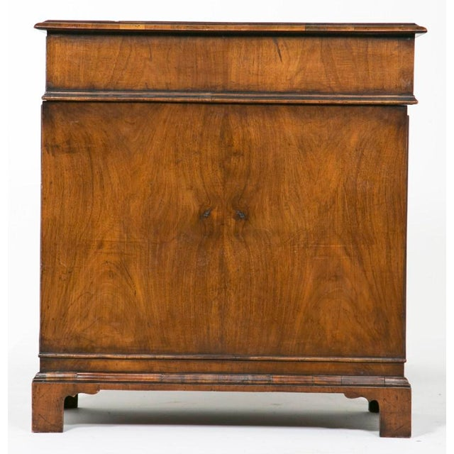 19th Century English Queen Anne Style Pedestal Desk For Sale - Image 4 of 7
