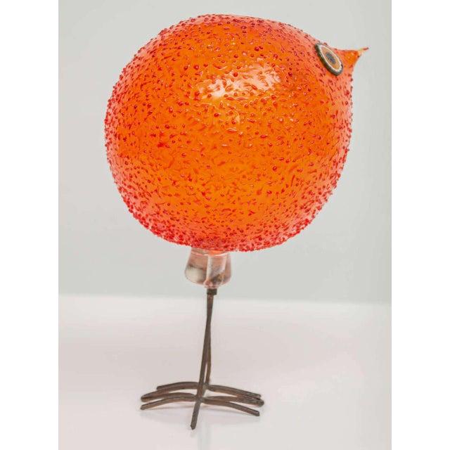 """Bronze Alessandro Pianon for Vistosi """"Pulcini"""" Glass Bird Sculpture For Sale - Image 7 of 8"""