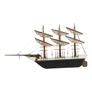 American Country Ship Wall Plaque For Sale