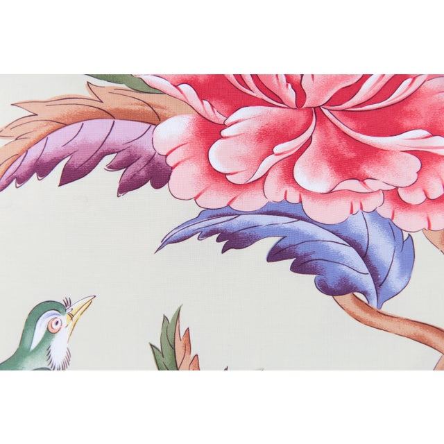 Asian Chinoiserie Brunshwig & Fils Leshan Bird Pillows - a Pair For Sale - Image 3 of 4