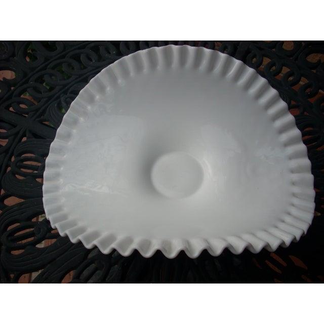 Cottage Hobnail Milk Glass Bowl For Sale - Image 3 of 4