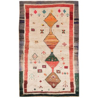 "Apadana - Vintage Persian Shiraz Rug, 3'5"" x 5'9"" For Sale"