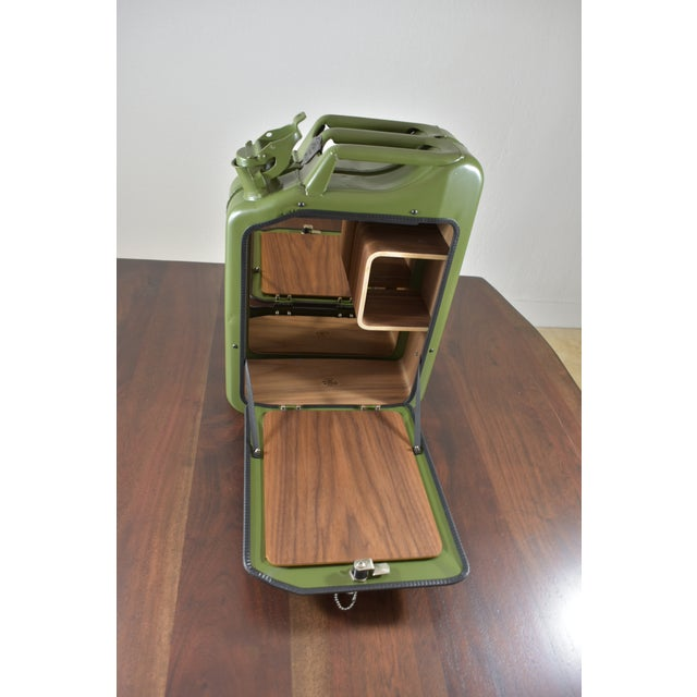 Danish Fuel Army Green Bar Cabinet For Sale In Miami - Image 6 of 10