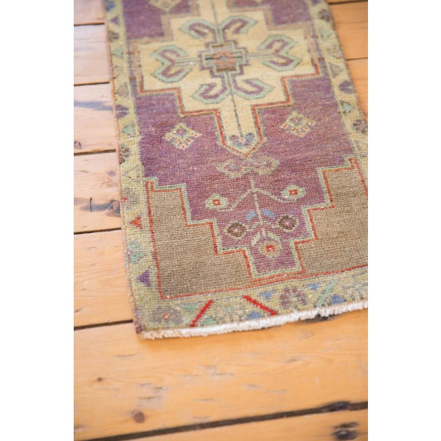 "Old New House Vintage Distressed Oushak Rug Mat Runner - 1'2"" X 3'1"" For Sale - Image 4 of 7"