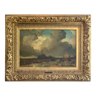 Mid 19th Century Oil on Canvas Seascape by Eugene Isabey For Sale
