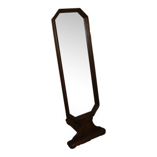 1960s Butler Mid-Century Modern Standing Adjustable Wood Full Length Floor Mirror For Sale