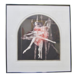 "1970s Vintage G. H. Rothe ""Grand Saute"" Signed Ballet Dancer Mezzotint Print For Sale"
