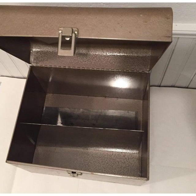 Retro Rustic Industrial Grey Metal Box - Image 9 of 10