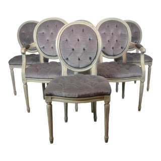 Louis XVI Style Dining Chairs S/6 For Sale