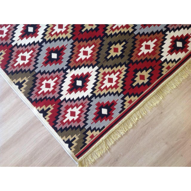 Reversible Kilim Inspired Rug - 3′11″ × 5′11″ - Image 6 of 11