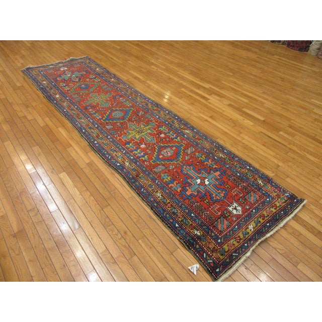 Surena Rugs Antique Handmade Persian Runner - 3' 2'' x 11' 2'' For Sale In Atlanta - Image 6 of 6