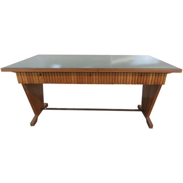 Glass Gio Ponti Style Desk For Sale - Image 7 of 7