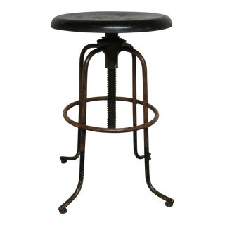 Vintage Steeline Adjustable Industrial Stool For Sale