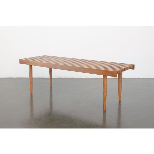 George Nelson Modern Nelson Style Slat Bench For Sale - Image 4 of 7