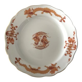 Meissen Germany Red Court Dragon Bread Plate- Reg. $415