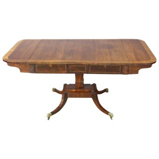 English Regency Rosewood Sofa Table For Sale