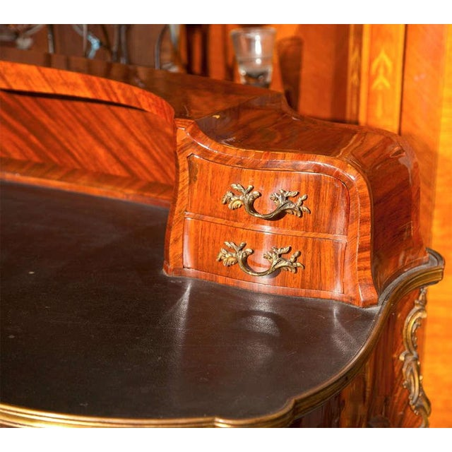 French Krieger French Rococo Style Rosewood Writing Table For Sale - Image 3 of 9