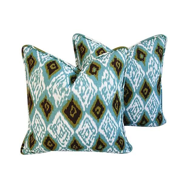 Custom Eaton Square Firebird Linen Pillows - a Pair - Image 1 of 7