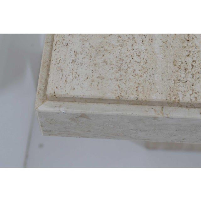 Marble Travertine Marble Side Table For Sale - Image 7 of 9