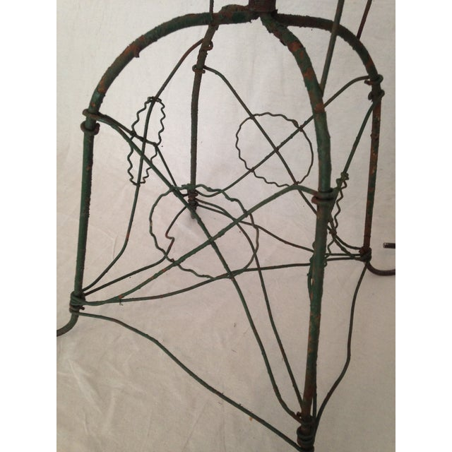 Antique Wirework Plant Stand - Image 4 of 5