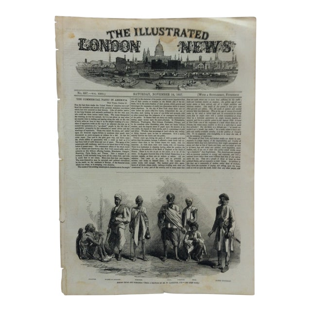 """1857 Antique Illustrated London News """"Hindoo Thugs and Poisoners"""" Print For Sale"""