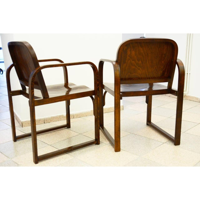 Beech Czech beech & bentwood armchair from Tatra For Sale - Image 7 of 8