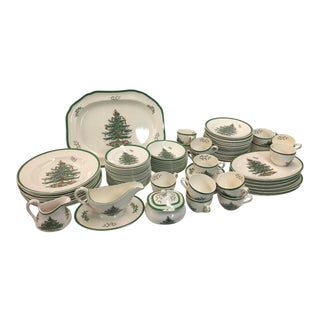 Spode Christmas Tree Dinner Service 92 Piece For Sale