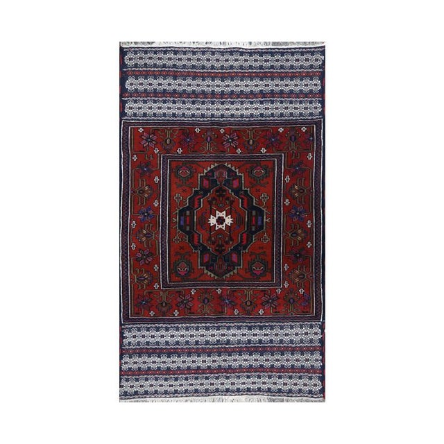 1990s Persian Handwoven Ghochan Tribal Wool Rug - 3x5 For Sale - Image 5 of 5