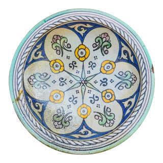 Moorish Ceramic Plate For Sale
