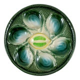 Image of St Clément Trompe L'Oeil St. Yellow Lemon Wedge Center Oyster Plate For Sale