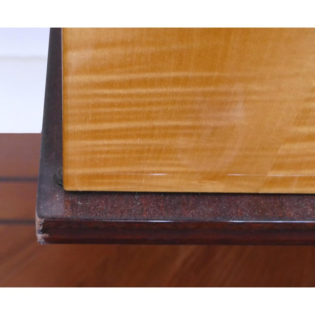 Ameublement Nf Mahogany and Satinwood Credenza With Brass Hardware From France For Sale - Image 4 of 13