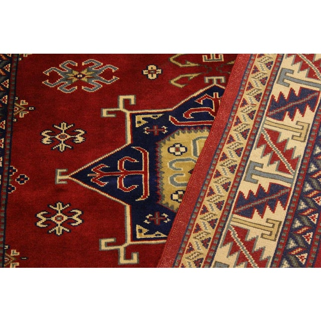 Sherwan James Red/Ivory Wool Rug - 4'1 X 5'10 For Sale - Image 4 of 8