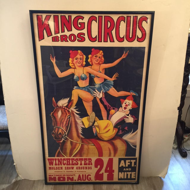 1959 Vintage King Brothers Circus Poster For Sale - Image 10 of 12