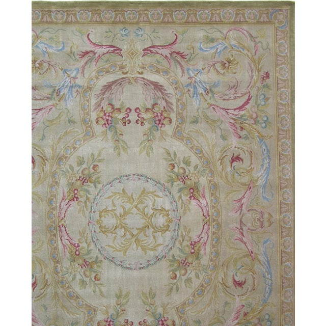 "21th Century Authentic Savonnerie Area Rug 10'0"" X 8'0"", handmade and hand-knotted, wool on cotton foundation, reproduction"