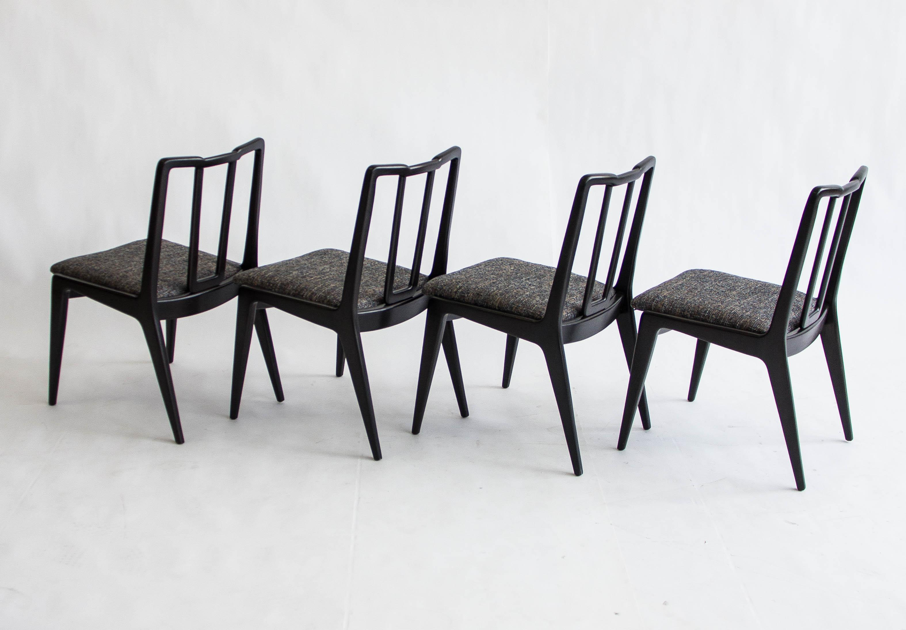 Handsome Set Of Four Dining Chairs By John Stuart. These Chairs Have Been  Fully Restored