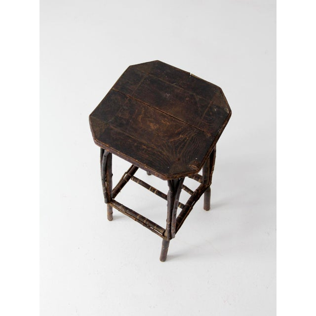 Black Antique Adirondack Twig Table For Sale - Image 8 of 11