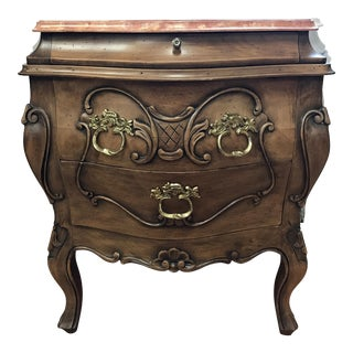 French Marble Top Commode Nightstand For Sale
