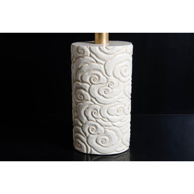 Contemporary Cloud Design Table Lamp - Cream Lacquer by Robert Kuo For Sale - Image 3 of 5