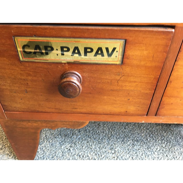1900s Antique Cherry Apothecary Chests-a Pair For Sale In New York - Image 6 of 9