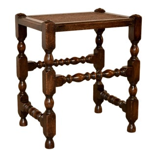 19th Century Turned English Stool For Sale