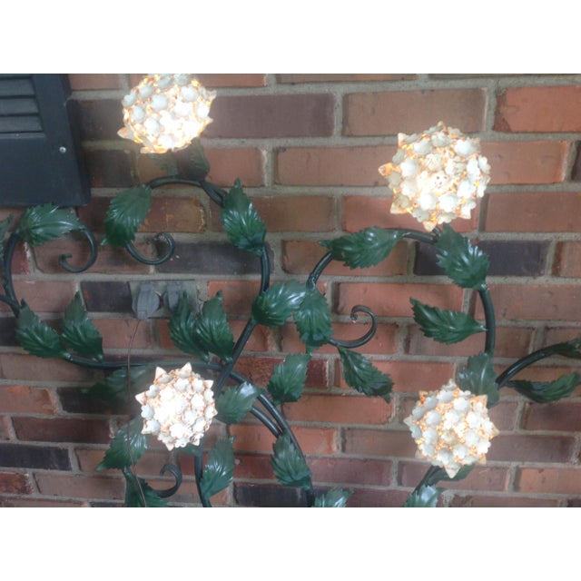 Mid-Century Metal Hydrangea Sconce For Sale - Image 9 of 11