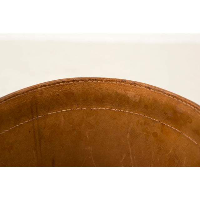 Leather Danish Wastebasket, 1960s For Sale - Image 10 of 11