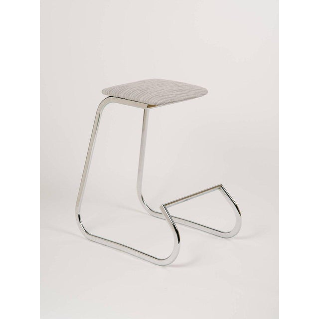 Hollywood Regency Pair of Sculptural Mid-Century Modern Counter Stools by Charles Stendig For Sale - Image 3 of 9