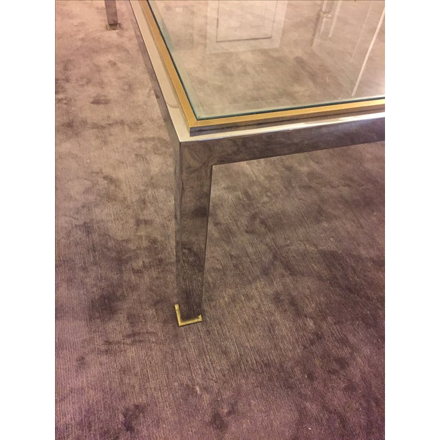 Modern Brass and Chrome Coffee Table - Image 3 of 4