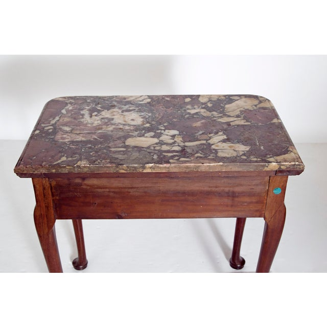 Mahogany Early 18th Century Queen Anne Mahogany Side Table For Sale - Image 7 of 13