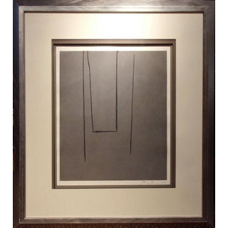"""1970s Robert Motherwell """"Slate Gray Pintura""""Hand Signed Aquatint Etching Preview"""