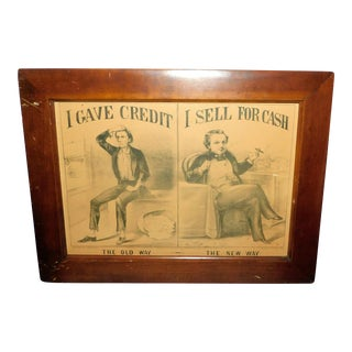 19th Century Currier & Ives Figurative Print, Framed For Sale